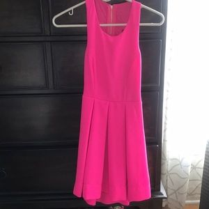 Lulu's Hot Pink Open Back Dress